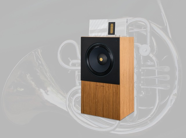 the fine-tuned combination of a unique field coil speaker with an ultra-fast high frequency driver, music played through the wolf von langa SON fills the room with sound